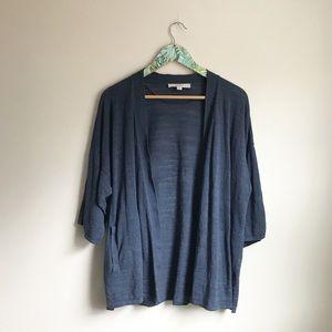 Loft Navy Blue Open Front Cardigan Sz L